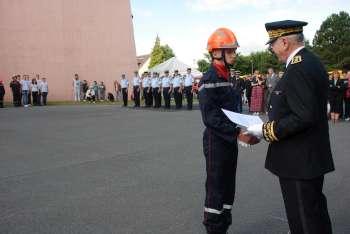 Le JSP Erwan Lequec félicité par le préfet