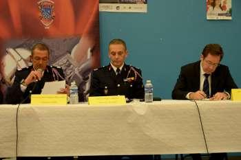 Président de l'UDSP, directeur du Sdis et préfet de l'Essonne à la tribune
