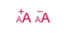 Lettre A plus ou moins grosse indiquant la possibilité d'adapter sa taille de texte