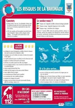 Affiche conseils sur les risques de baignade