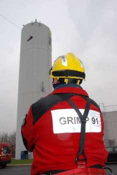 manoeuvre de secours aérien sur une tour de 45 M