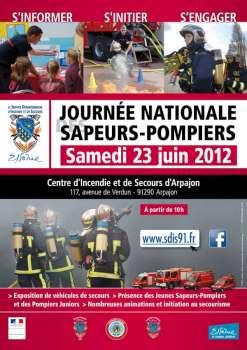 affiche de la Journée nationale des sapeurs-pompiers