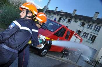 manoeuvre des jeunes sapeurs-pompiers