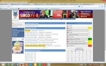 page d'accueil du site SIRCO